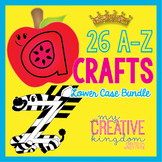 26 A - Z Lower Case Alphabet Letter Craft Bundle (Journey'