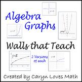 27  Algebra / PreCalcius Basic/Parent Graphs-Walls That Teach-