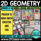 2D Geometry Bundle: (Common Core 3.G.1, 2.G.1, 1.G.1, 1.G.