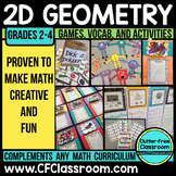 2D Geometry Bundle: (Common Core 3.G.1, 2.G.1, 1.G.1, 1.G.
