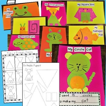 2D Shape Animal Crafts