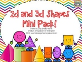 2D and 3D Shapes Mini Pack!