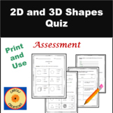 2D and 3D Shapes Quiz
