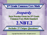 2.NBT.2 Jeopardy Game 2nd Grade Math - Place Value, Skip C