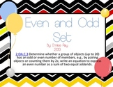 Even and Odd Numbers Unit - 2.OA.C.3 {Common Core Aligned}