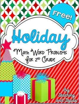 2nd Grade Holiday Problem Solving Tasks (FREEBIE)