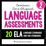 2nd Grade Common Core ELA Language Assessment (ALL 20 Lang