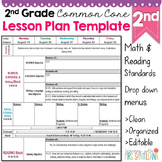 2nd Grade Common Core Lesson Plan Template