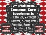 2nd Grade Common Core: Math Bundle{Assessments, Writing Re