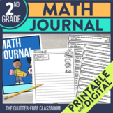 2nd Grade Common Core Math Journal: Over 165 Prompts and O