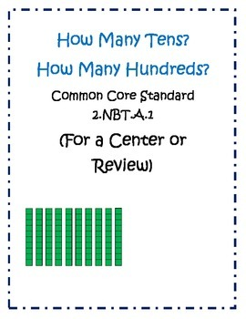 2nd Grade Common Core Review:How Many Tens and Hundreds? 2