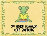 2nd Grade Common Core Standards Reading Posters Frogs