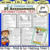 2nd Grade ELA Common Core Assessments- Reading Informational Text