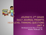 2nd Grade Journeys Daily Writing Prompts- Unit 4