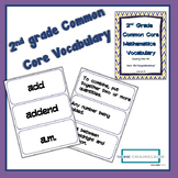 2nd Grade Math Common Core Standards Vocabulary Cards