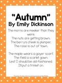2nd Grade Mini Unit Using CCSS Exemplar Text Autumn Poem b