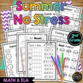 {2nd Grade} NO STRESS Summer Pack, Math & Literacy, End of Year