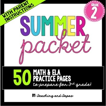 2nd Grade Summer Review Pack {Common Core Aligned}