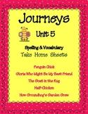 2nd Grade Unit 5 Spelling Lists /Vocabulary Lists