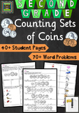 2nd Grade Math Unit & Test: Counting Sets of Coins Problem