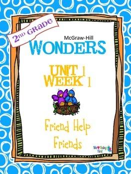 2nd Grade Wonders Reading  Unit 1 Week 1 ~ Friends Help Friends