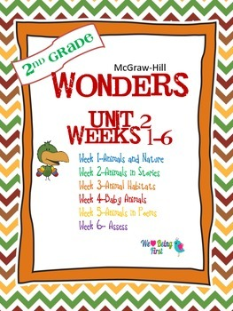 2nd Grade Wonders Reading ~  Unit 2 Bundle