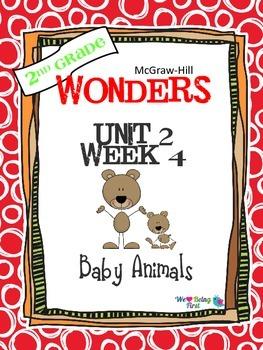 2nd Grade Wonders Reading ~ Unit 2 Week 4 ~Baby Animals