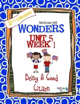 2nd Grade Wonders Reading  Unit 5 Week 1 ~ Being A Good Citizen