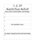 3-2-1 Nonfiction Notes