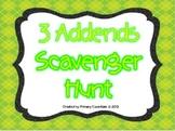 3 Addends Scavenger Hunt