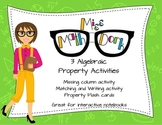 3 Algebraic Property Activities Bundle