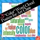 "3 ""Color"" Word Wall Posters for Art Class - FREE"
