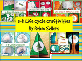 Science Life Cycle Craftivities Bundle