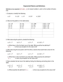 Exponent Patterns and Definitions