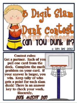 3 Digit Slam Dunk Contest