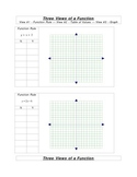 3 Views of a Function: table, graph, equation!