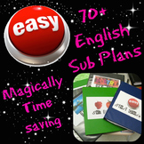 70+ English Substitute Plans, Activities, and Forms
