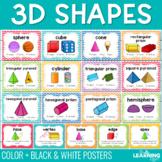 3D Geometric Shape Posters - Chevron
