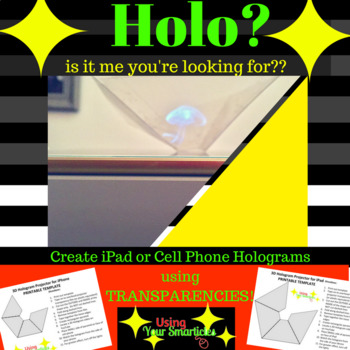 photo about Printable Holograms titled 3D Hologram Projector Template by means of Making use of Your Smarticles TpT