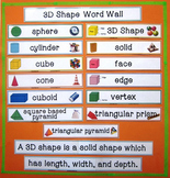 3D Shape Word Wall - Illustrated