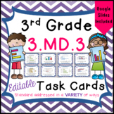 Bar Graphs and Pictographs Task Cards for Third Grade Math