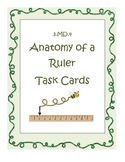 3.MD.4 Anatomy of a Ruler Task Cards