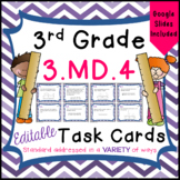 Line Plots Task Cards for Third Grade Math Common Core - 3.MD.4