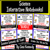 3RD, 4TH, & 5TH  GRADE INTERACTIVE ELEMENTARY SCIENCE NOTE