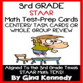 3RD GRADE MATH STAAR CLASS REVIEW, CENTERS, TASK CARDS, 10