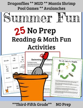 3rd-5th Grade Math and Reading Summer Review