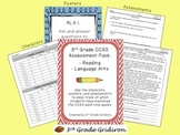 3rd Grade CCSS Assessment Pack:  Reading/Language Arts/Writing