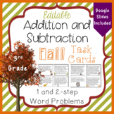 Addition and Subtraction Task Cards Fall-themed 3.NBT.2