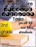 3rd Grade Common Core Connected Reading Response Tasks