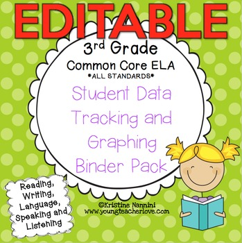 3rd Grade Common Core: ELA {Student Data Tracking Binder Pack} *ALL STANDARDS*